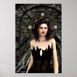 Poster gótico de las ilustraciones de los pensamie