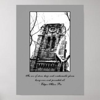 """Poster gótico de Quotables """"del campanario"""""""