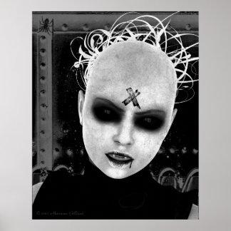 Poster gótico del arte de la molestia