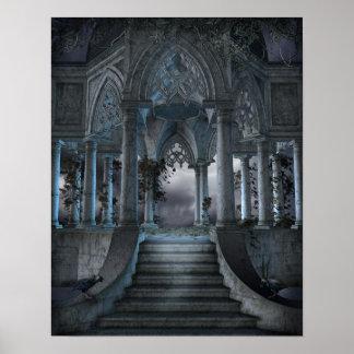 Poster gótico del mausoleo