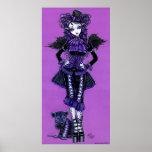 Poster gótico púrpura del ángel del Victorian del