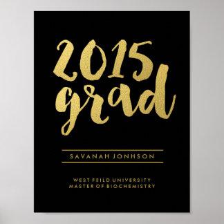 Poster graduado del negro 2015 elegantes de la