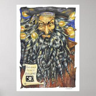 Poster grande de Blackbeard Póster