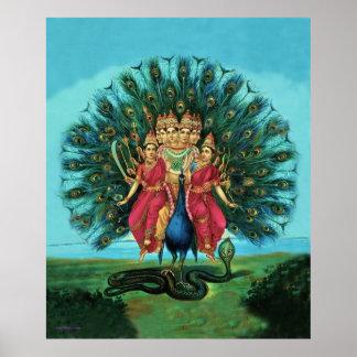 Poster grande de dios hindú de Murugan