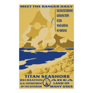 Poster grande de la costa del titán