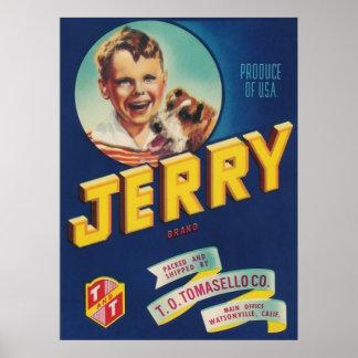 poster grande de la etiqueta jerry