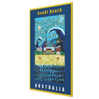 Poster grande de la playa de la lona el | Luna Bon Impresiones En Lienzo Estiradas