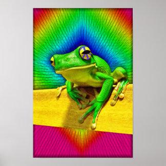 ¡Poster grande de la rana de la paz! Póster