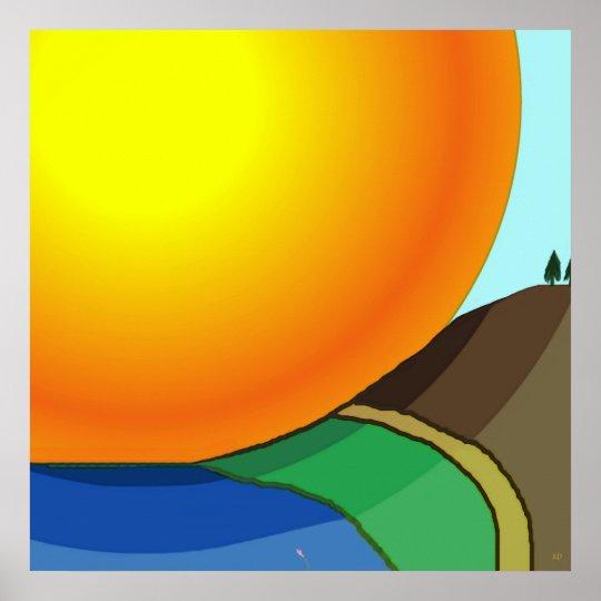 Poster grande de la salida del sol póster