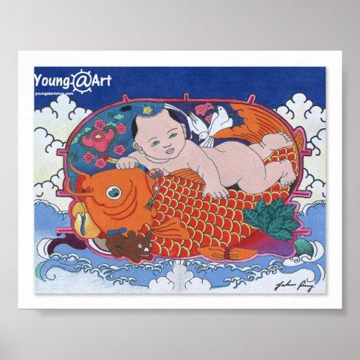 Poster grande de los pescados