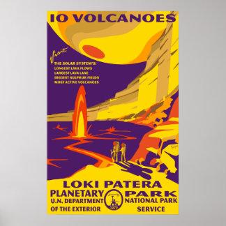 Poster grande de los volcanes del Io