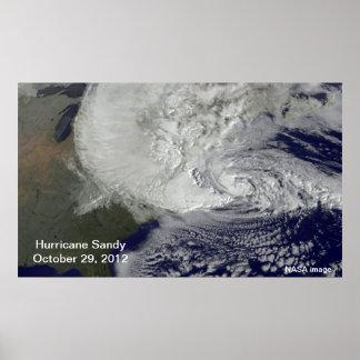 Poster grande de Sandy del huracán