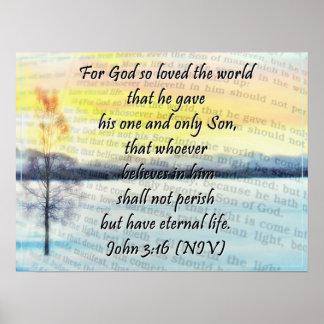 Poster grande del 3:16 de Juan