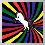 Poster grande del arco iris del unicornio