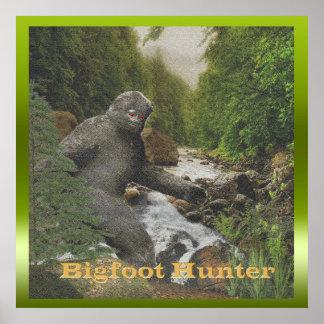 Poster grande del cazador del pie