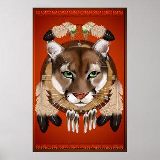 Poster grande del escudo del puma