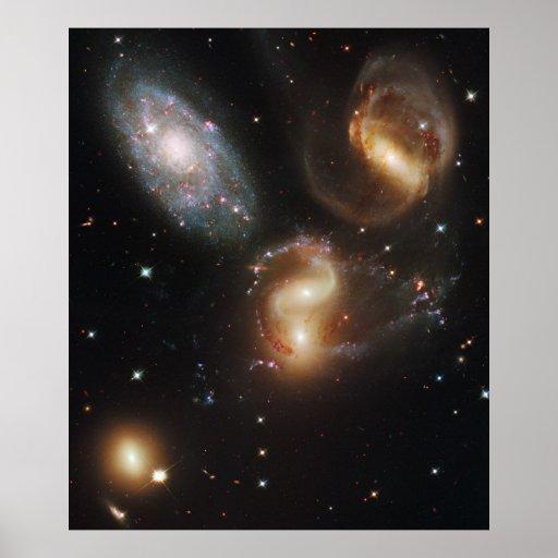Poster grande del espacio de las galaxias