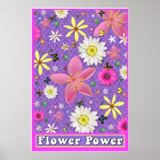 Poster grande del flower power