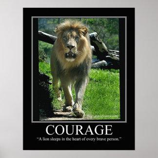 Poster grande del lustre del VALOR - león (de moti