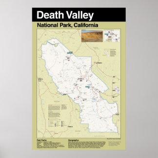 Poster grande del parque nacional de Death Valley