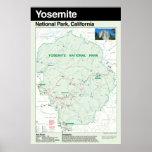 Poster grande del parque nacional de Yosemite