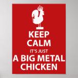Poster grande del pollo del metal