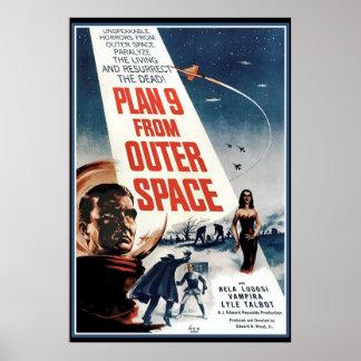 Poster grande del vintage - vieja película del esp