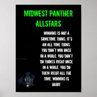 Poster grande - el ganar es un hábito póster