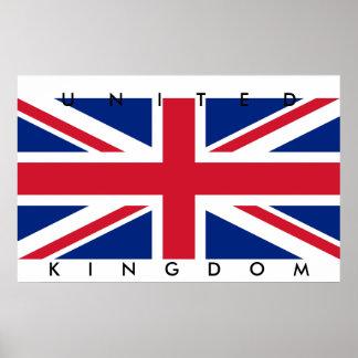 Poster grande Reino Unido de la bandera de Reino U