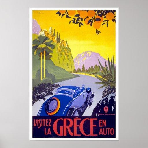 Poster Grecia del viaje del vintage