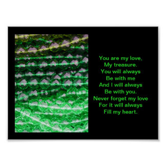 Poster, Green Beads, Forever Love Poster
