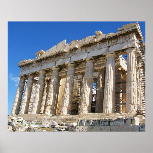 Poster griego del Parthenon