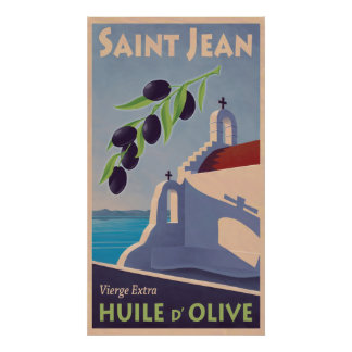 Poster griego del viaje del aceite de oliva del vi