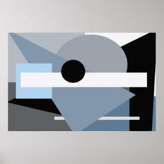 Poster gris de la materia 36 x 24 póster