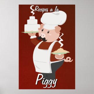 Poster guarro del cocinero
