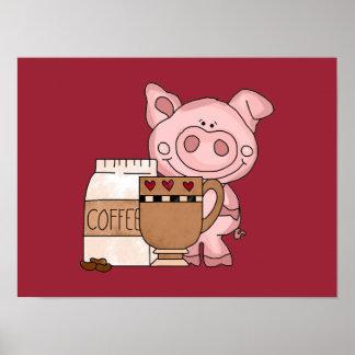 Poster guarro del tiempo del café