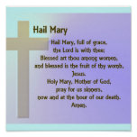 Poster-Hail Mary Prayer Poster