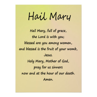 Poster Hail Mary Various Sizes Paper Stock