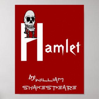 Poster Hamlet del juego del teatro de William