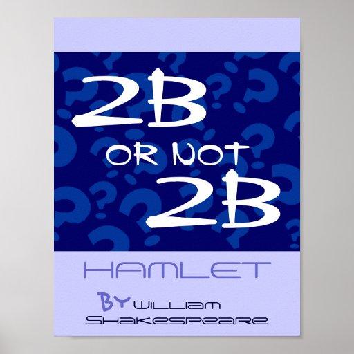 ¿Poster Hamlet Shakespeare del juego del teatro a
