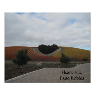 Poster: Heart Hill, Paso Robles, in Autumn print