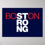Poster Helvética fuerte de Boston en azules marino