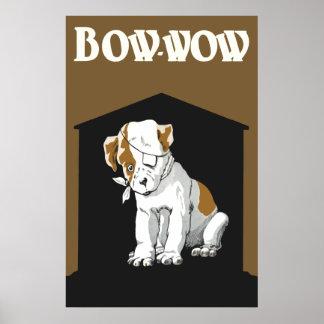Poster herido lindo del perrito de Bow Wow pequeño