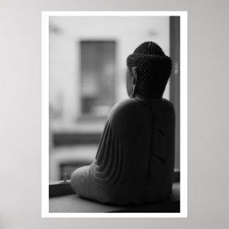 Poster hermoso de Buda que se sienta