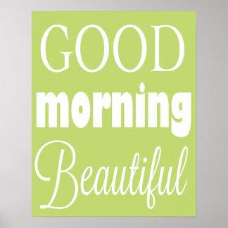 Poster hermoso de la buena mañana