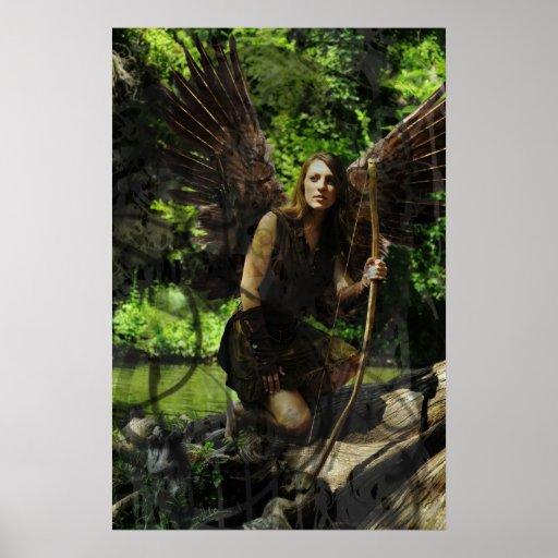 Poster hermoso de la hada de maderas
