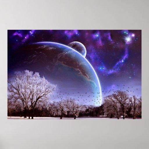 Poster hermoso de la opinión del planeta