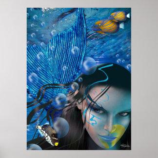 Poster hermoso de la sirena de Mara