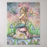 Poster hermoso de la sirena por Molly Harrison