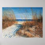 Poster hermoso de las dunas de arena II